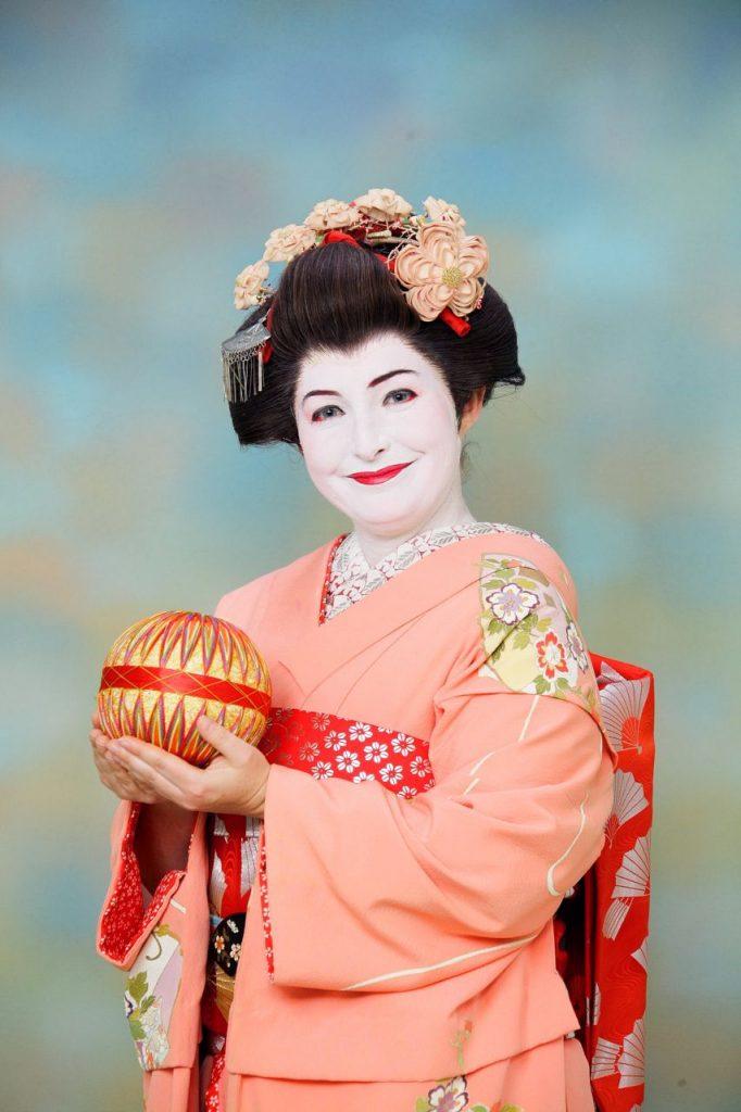 kimono and temari
