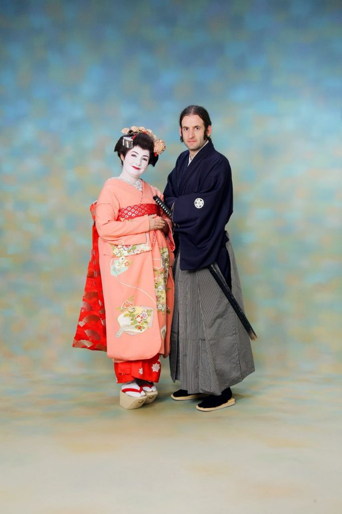 dressing up in japan couple