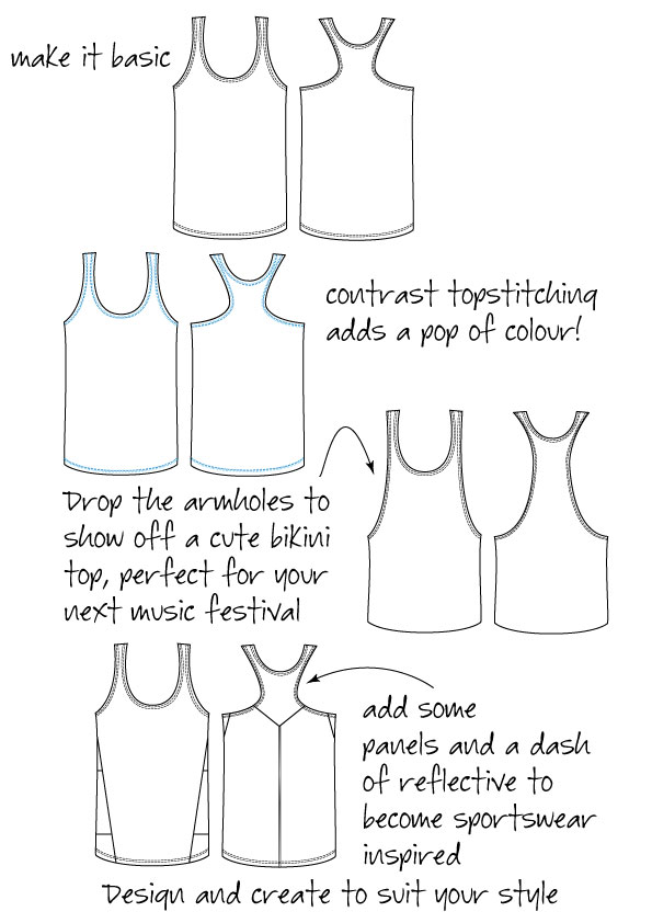 Womens-racer-back-singlet-variations